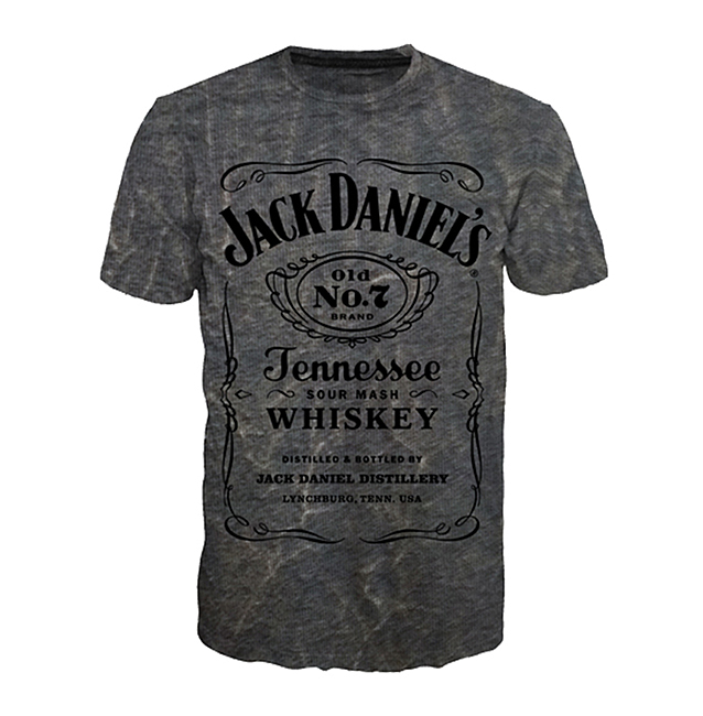Tričko Jack Daniels Acid Washed T-shirt
